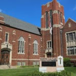 Exterior view of Mount Calvary Lutheran Church, home of Camp Restore Detroit
